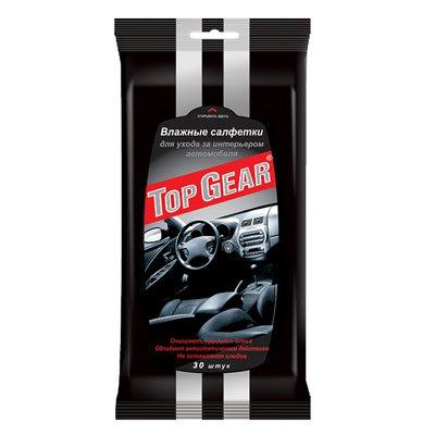 Автомобильные салфетки TOP GEAR влажные для салона автомобиля 30шт