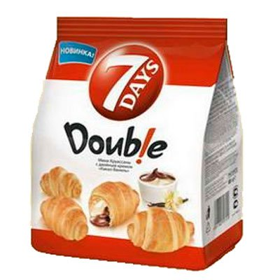 """Круассаны """"7 Days"""" Double с двойной начинкой вишня-ваниль 200гр (1шт)"""