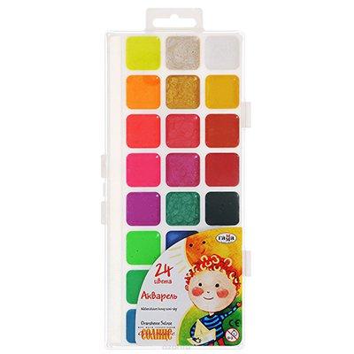 "Краски ""Гамма"" акварель 24 цвета"