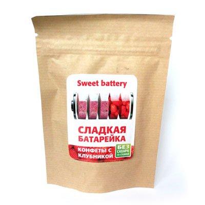 Конфеты Сладкая Батарейка со вкусом клубники 40гр