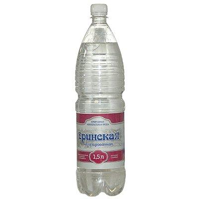 Вода Еринская природная столовая 1.5 литра, без газа, пэт, 6шт. в уп.