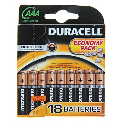Батарейки Duracell Basic (18шт.) (серия AAA)