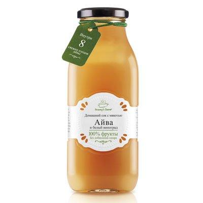 Фруктовый сок с мякотью Granny's Secret Айва и белый виноград 0,7л (6шт.)