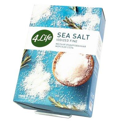 Морская соль 4 LIFE мелкая 1кг