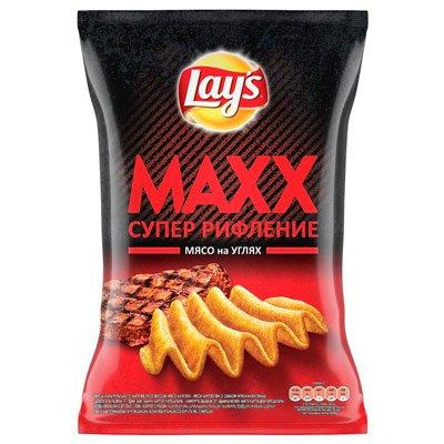 Чипсы Lays Max мясо на углях 145 гр.