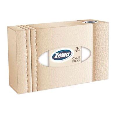 Косметические салфетки Zewa Car Box 3-х сл (50шт)