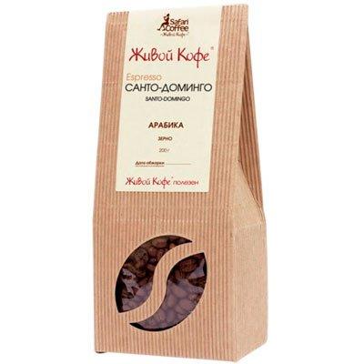 Кофе Живой Санто-Доминго зерно к/у (200гр)