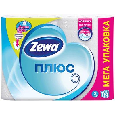 Туалетная бумага Zewa Плюс белая 2 слоя (12шт.)