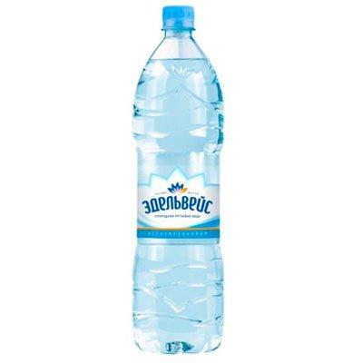 Вода Эдельвейс 1.5 литра, без газа, пэт, 6шт. в уп.