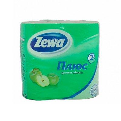 Туалетная бумага Zewa Плюс (яблоко) (4шт.)