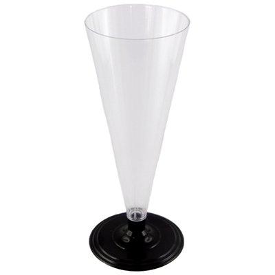 Фужер для шампанского прозрачный на ножке 180 мл (6мл)