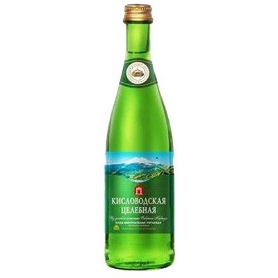 Вода Кисловодская 0.5 литра, газ, стекло, 20шт. в уп.
