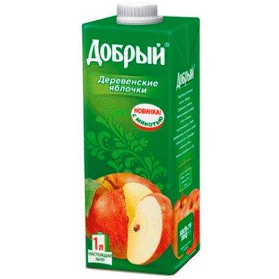 Добрый Деревенские яблочки 1,0л (12шт.)