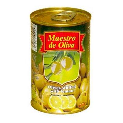 Оливки MAESTRO DE OLIVA с лимоном 300 гр