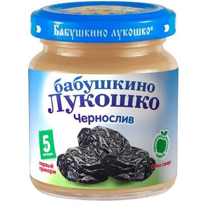 Пюре Бабушкино Лукошко Чернослив (100гр) (6шт)