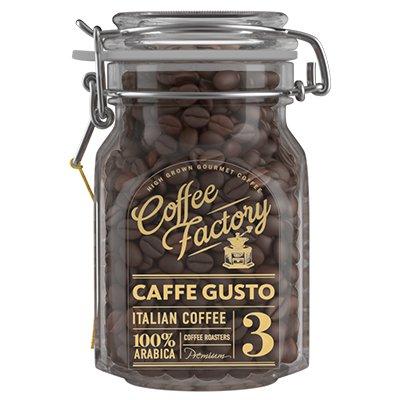 Кофе Coffe Factory в зернах Caffe Gusto 290гр ст.
