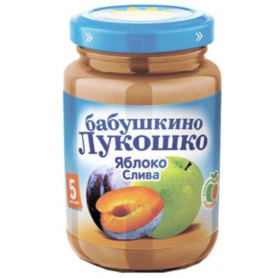 Пюре Бабушкино Лукошко Яблоко и слива (100гр) (6шт)