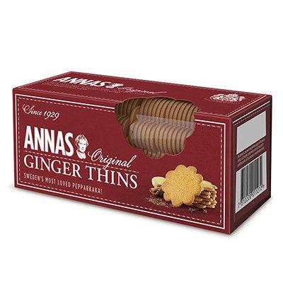 Печенье Annas Original Pepparkakor (имбирное с корицей) 150гр