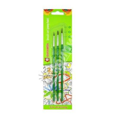 Кисти Baramba 3 кисти (№ 1,3,5) (зеленые)