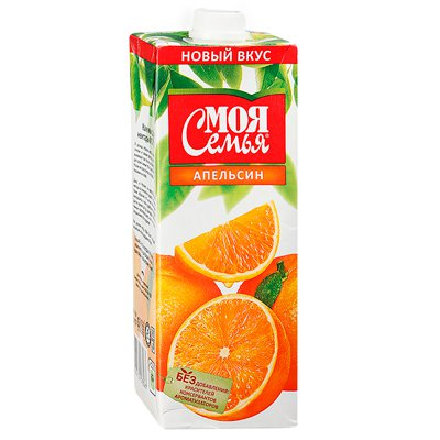 Моя семья апельсин 1л (4шт.)