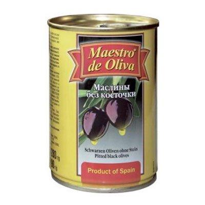 Маслины Maestro без косточек 280гр (2шт)