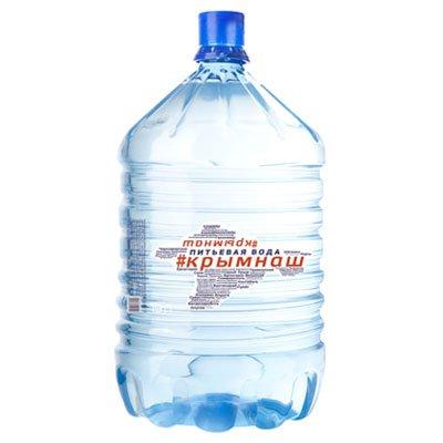 Вода КрымНаш 19 литров в одноразовой таре