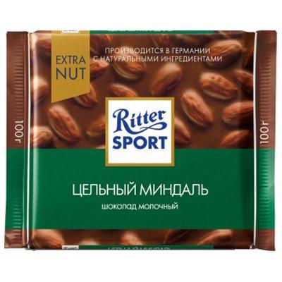 Ritter Sport молоч.шоколад и миндаль 100г (5шт.)