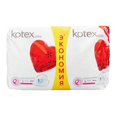 Прокладки Kotex Ultra супер 5 капель 16 шт