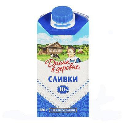 Сливки Домик в деревне 10%480гр (12шт.)
