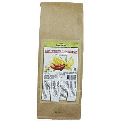 Кукурузное масло Соль Жизни первого холодного отжима с кайенским перцем 0,5л