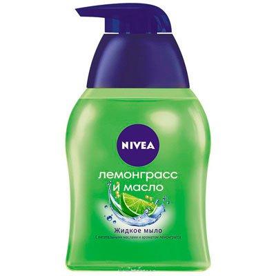 """Жидкое мыло """"NIVEA"""" лемонгасс и масло 250мл (1шт.)"""