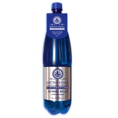 Leciva voda минерализованная вода с карловарской солью 0.6 литра, газ, пэт, 12шт. в уп.