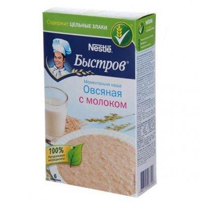 Быстров овсяная каша натуральная с молоком 240г (2шт.)