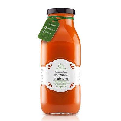 Сок из смеси овощей и фруктов Granny's Secret Морковь и яблоко 0,7л (6шт.)