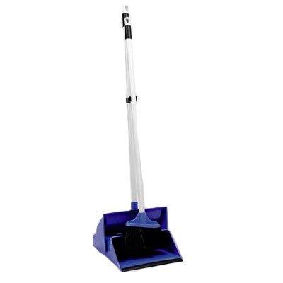 Щетка для пола Rozenbal и совок с резервуаром 6,8л (синяя)