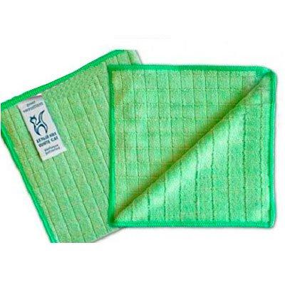 Салфетка БЕЛЫЙ КОТ с ионами серебра 32x31 зеленая