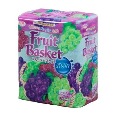 Туалетная бумага Marutomi Paper Co фруктовая корзина виноград 2-х сл (18шт)