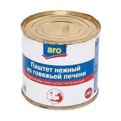 Паштет из говяжей печени ARO 240гр (1шт)