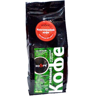 Зеленый молотый кофе Конголезский м/у (500гр)