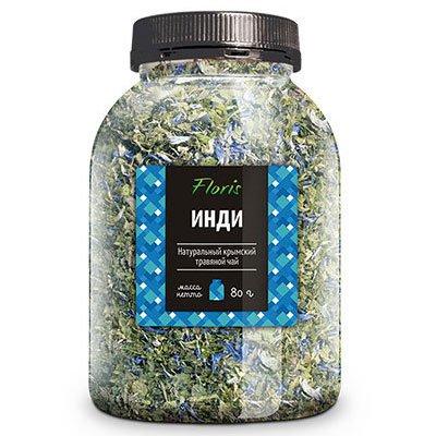 Чай Floris Инди натуральный Крымский травяной, банка пэт 80гр