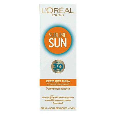 Крем для лица Loreal sublime sun усиленная защита 75мл