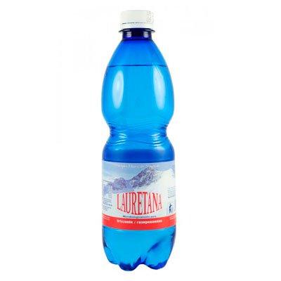 Вода Lauretana 0.5 литра, газ, пэт, 12шт. в уп.