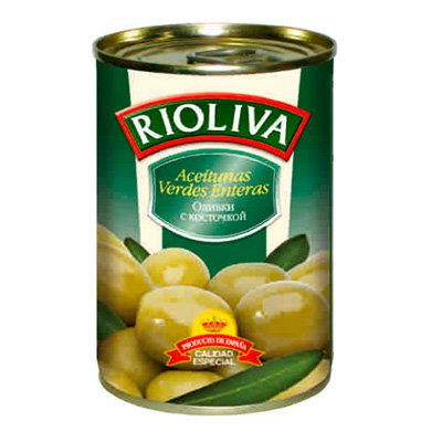 Оливки RioLiva с косточкой 314гр.