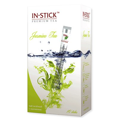 Чай в стиках in-stick зеленый китайский с жасмином 2гр (16стик)