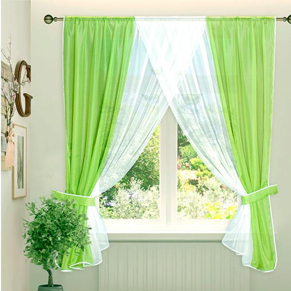 догадаться, зеленые занавески на кухню фото вязаное