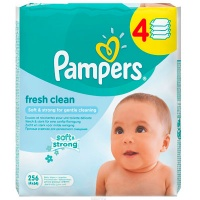 Салфетки Pampers Baby Fresh Clean 256 шт