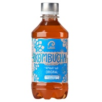 Чай Kombucha черный Lava Superfood 0.33 литра, газ, пэт, 12 шт. в уп.