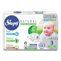 Подгузники Sleepy Natural Midi 4-9кг 34шт