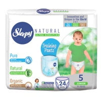 Трусики Sleepy Natural Junior 11-18кг 24шт