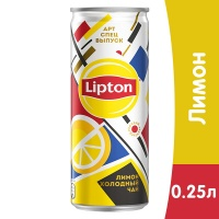 Lipton Ice Tea / Липтон Лимон 0.25 литра, ж/б, 12 шт. в уп.